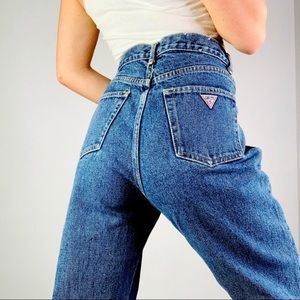 Vintage GUESS Narrow Leg High Rise Mom Jean | 31